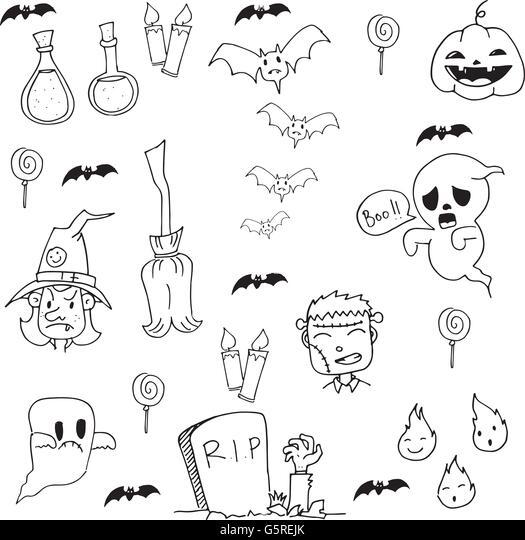 zombie cartoon doodle vector illustration stock vector