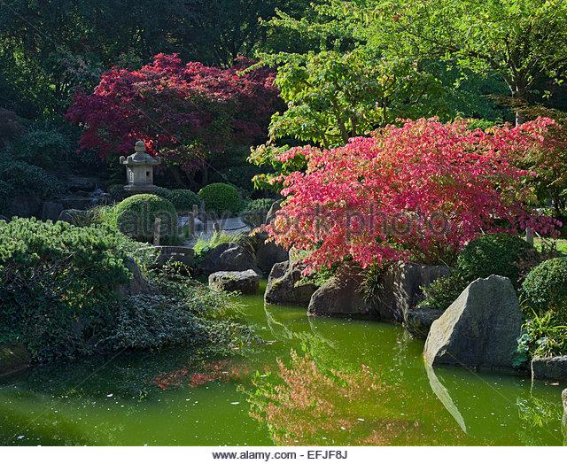 Formal garden pond stock photos formal garden pond stock for Formal japanese garden