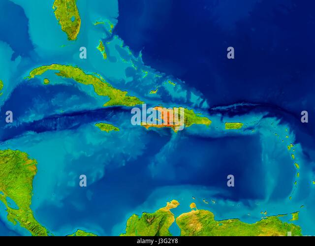 Map Satellite Geography Haiti Stock Photos Map Satellite - Haiti physical map