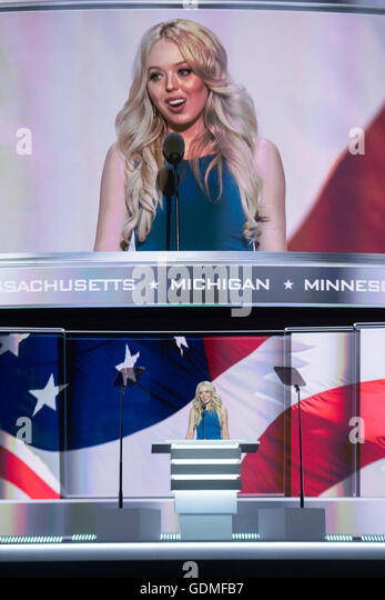 Cleveland, Ohio, USA . 19th July, 2016. Tiffany Trump, daughter of Donald Trump and his second wife Marla Maples - Stock Image