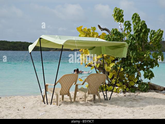 Beach Umbrella or Cabana at Playa Azul Morrocoy National Park Venezuela - Stock Image & Beach Cabana Caribbean Stock Photos u0026 Beach Cabana Caribbean Stock ...