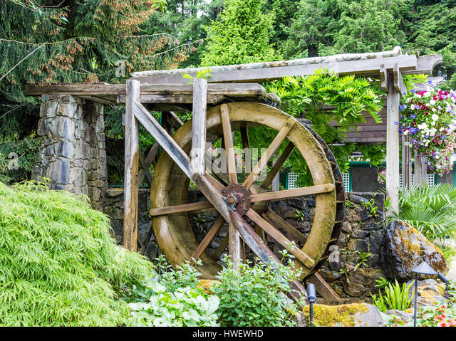 Marble Water Wheels : Old stone watermill stock photos