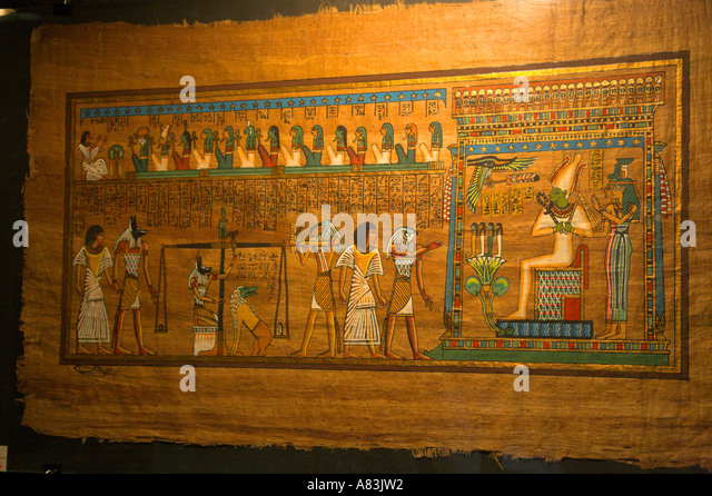 Ancient Egyptian Papyrus Paper Egyptian Papyrus Paint...