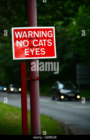 Warning Cats Eyes Removed
