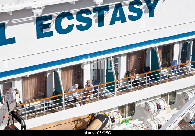 Carnival ecstasy cruise ship stock photos carnival for Balcony in cruise ship