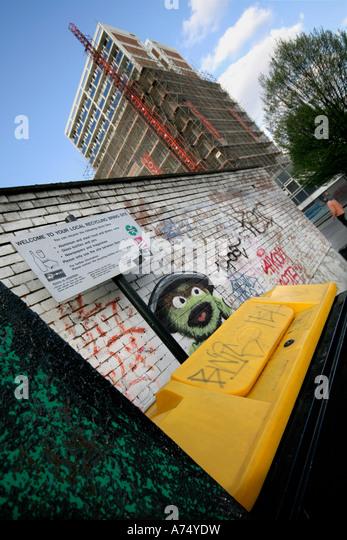 Oscar The Grouch, A Character From Sesame Street, Grafittiu0027d On A Wall Part 82