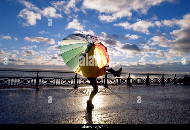 Girl Dancing With Umbrella