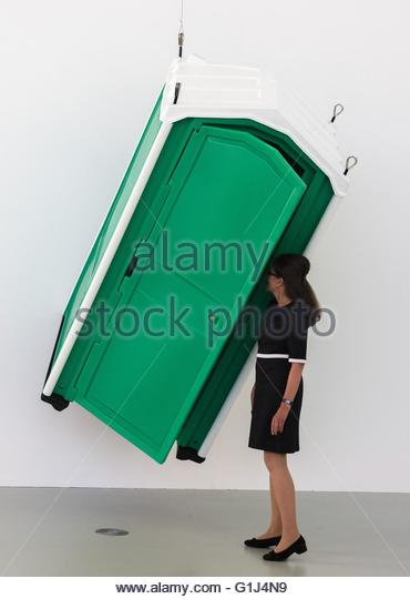 Portable Toilet Exhibition : Slominski stock photos images alamy