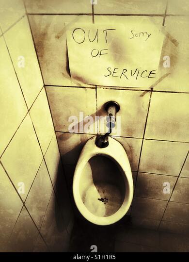 Broken toilet stock photos images