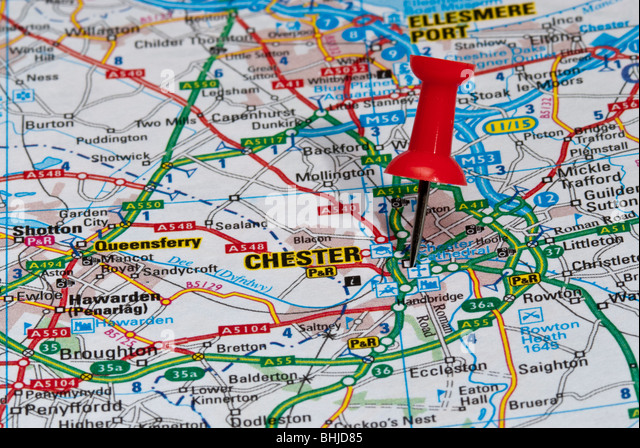 Chester Map Stock Photos Chester Map Stock Images Alamy