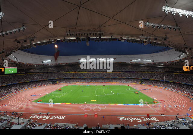 National stadium beijing aerial stock photos national for The bird s nest stadium