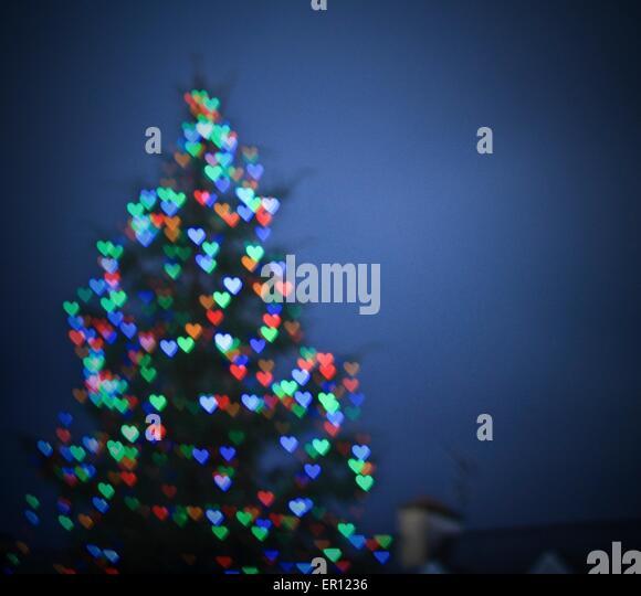 Bokeh Lights Heart Stock Photos Bokeh Lights Heart Stock Images  - Christmas Tree Shaped Lights