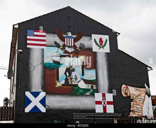 Belfast mural stock photos belfast mural stock images for Jackson 5 mural