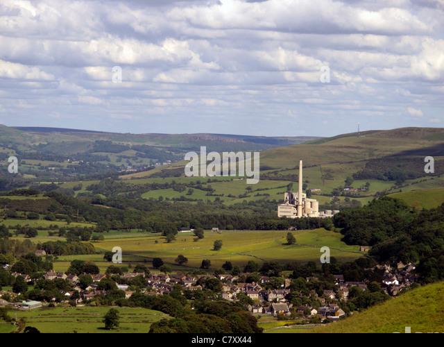 England Derbyshire Peak District Castleton Stock Photos
