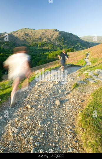Lake district runner stock photos lake district runner for Terrace jogging track