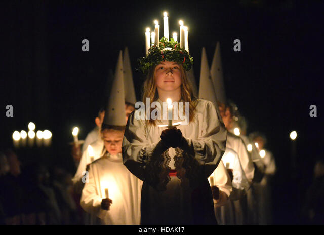 lucia festival sweden stock photos lucia festival sweden stock images alamy. Black Bedroom Furniture Sets. Home Design Ideas