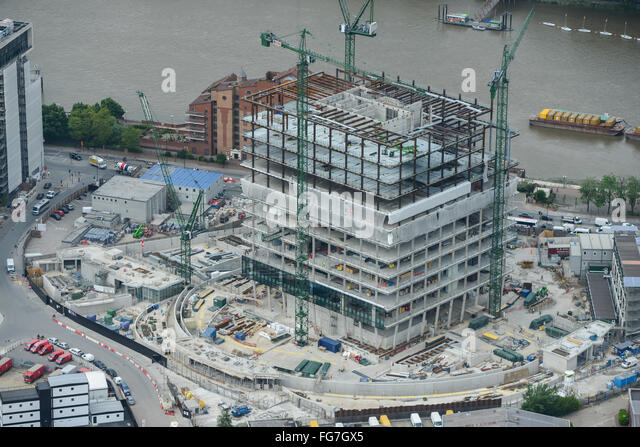 An Aerial View Showing Construction Of The New Us Embassy In Nine Elms London