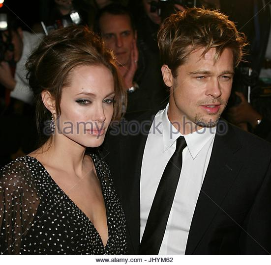 With Her Husband Brad Pitt Stock Photos & With Her Husband
