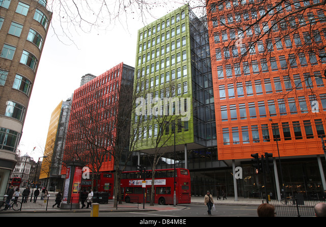 google london offices central st. These Brightly Colored Offices Are Central St Giles Office Development Containing The London Of Google Alamy