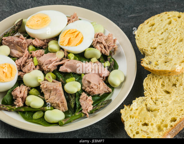 Hard boiled eggs salad stock photos hard boiled eggs for Tuna fish salad recipe with egg