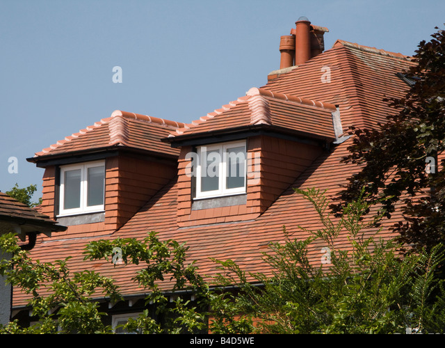 House Improvements Dormer Windows In Roof Extension Of Edwardian Surbuban  House   Stock Image