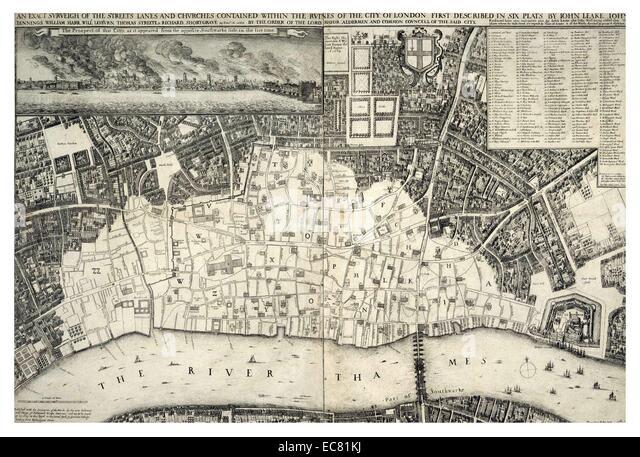 London River Thames Map Stock Photos  London River Thames Map