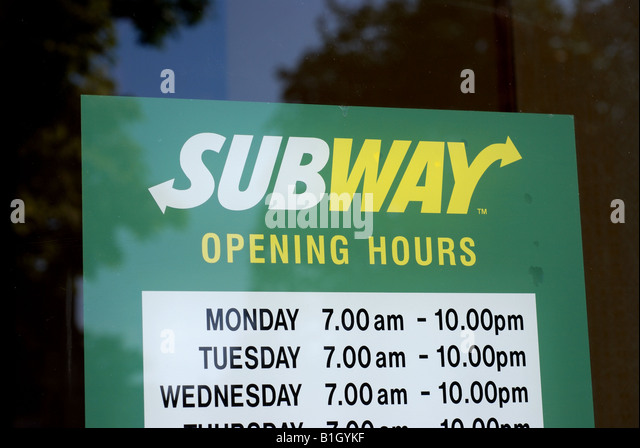 Business hours uk sign stock photos business hours uk sign stock subway food outlet opening hours sign uk stock image sciox Image collections