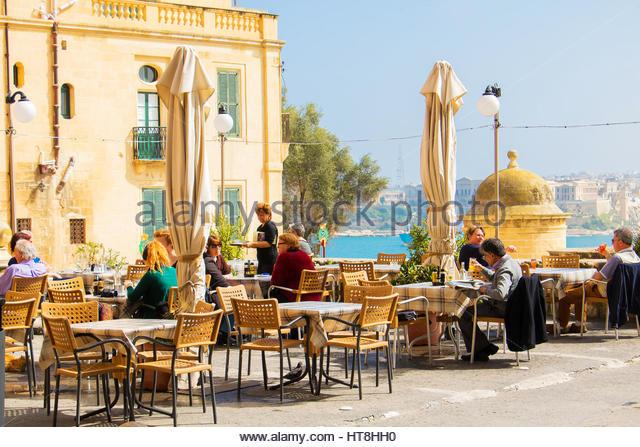 Valletta restaurant stock photos
