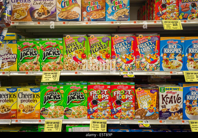Cereal Boxes Stock Photos Amp Cereal Boxes Stock Images Alamy
