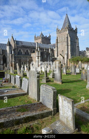 St Mary's Church, Mid 14th century church, in the Devon town of Ottery St Mary, Quarter size of Exeter Cathedral - Stock Image