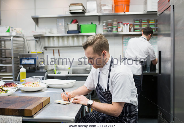 Restaurant Kitchen Chefs menu restaurant kitchen chef stock photos & menu restaurant
