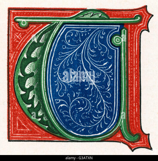 Letter T Related Keywords & Suggestions - Medieval Illuminated Letter ...