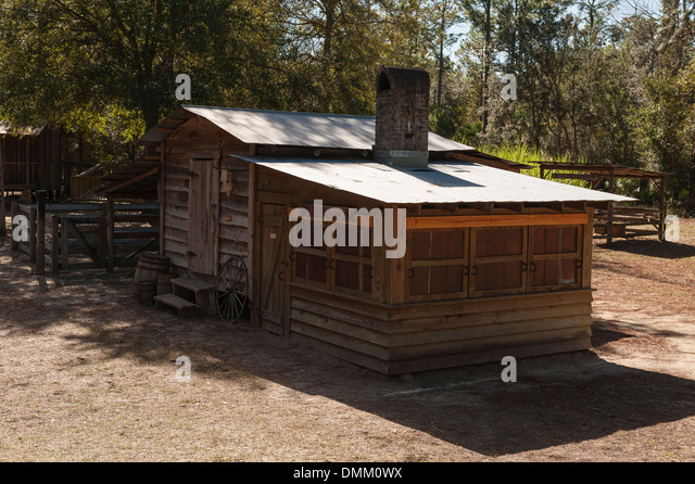 Historic Blacksmith House On The Grounds Of The Silver Springs State Park  Florida USA   Stock