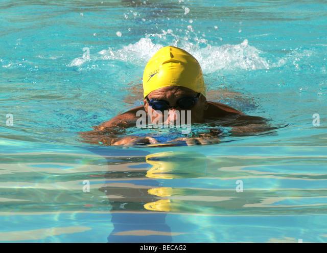 Senior Citizens Swimming Stock Photos Senior Citizens Swimming Stock Images Alamy