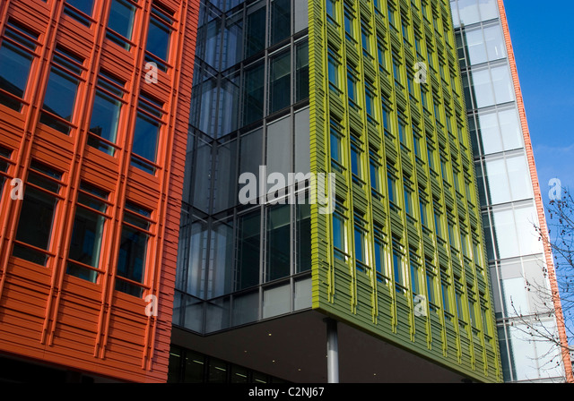 central st giles a colourful new offce building development st giles circus london brightly colored offices central st