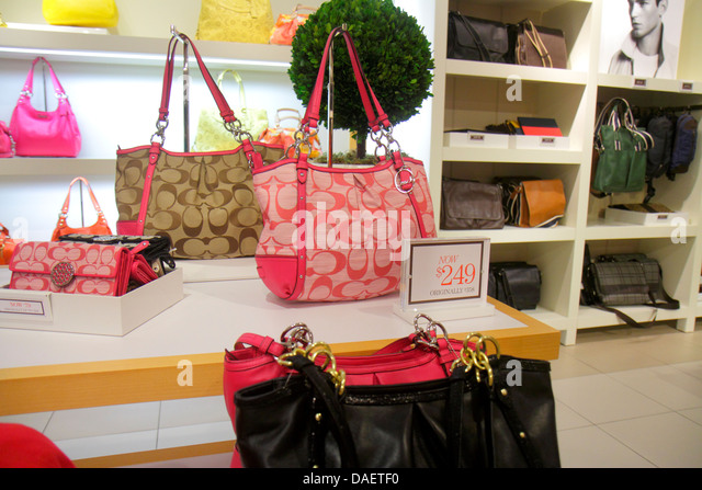 ... Miami Florida City Florida Florida Keys Outlet Center centre shopping  Coach womens sale retail display fashion ... bca2db2d1ed88