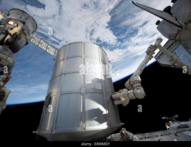 Sts 133 stock photos sts 133 stock images alamy for When was the international space station built