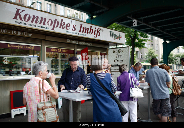 http://l7.alamy.com/zooms/eb393793604641089fac84858a9ca6cc/berlin-germany-konnopkes-bite-at-the-schoenhauser-allee-d1by0f.jpg