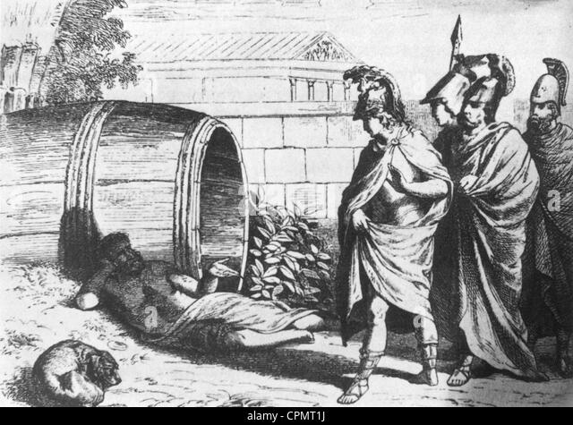 diogenes and alexander Only diogenes, although he lived in corinth, did not visit the new 9 diogenes and alexander monarch with that generosity which aristotle had taught him was a quality of the truly magnanimous man, alexander determined to call upon diogenes.
