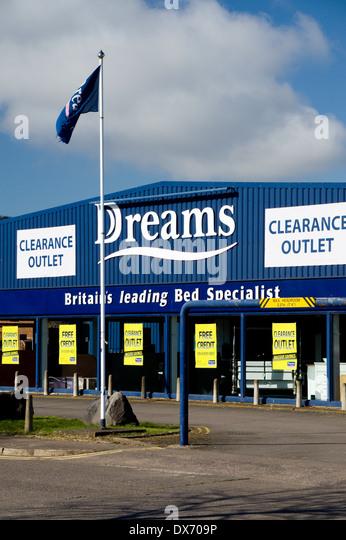 Dreams Bed Showrooms Penarth Road Cardiff Wales Stock Image