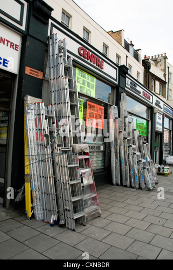 Do it yourself holloway road stock photos do it yourself holloway aluminum ladders for sale outside diy shop holloway road london borough of islington enbgland solutioingenieria Images