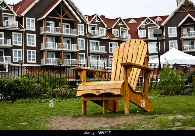 Lovely Oversized Muskoka Wooden Chair Cottage   Stock Image