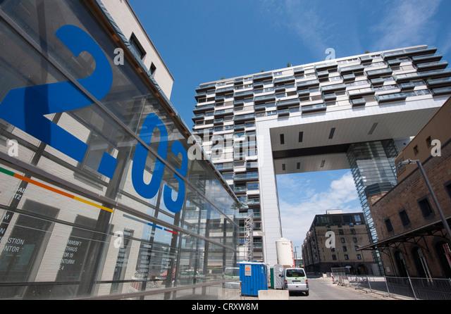 Upmarket Property Development Brochures : In rheinauhafen stock photos