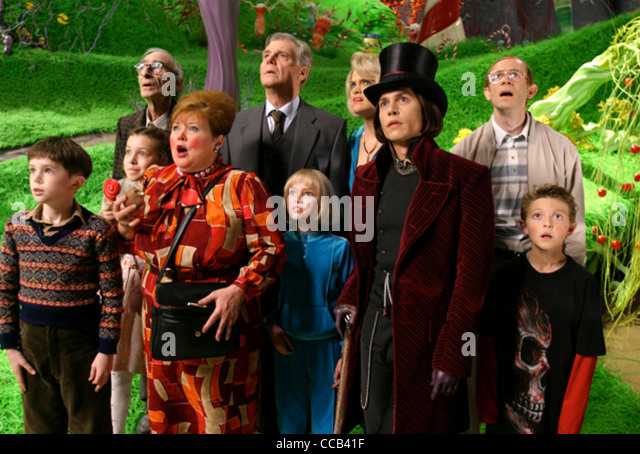 depp charlie chocolate factory stock photos depp charlie  charlie and the chocolate factory 2005 warner bros film johnny depp in top hat