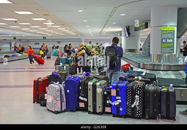 Luggage Airport Baggage Claim Waiting Stock Photos & Luggage ...