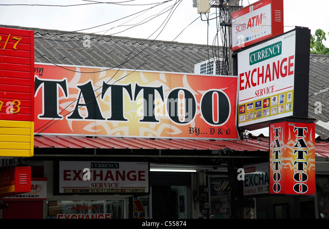 Tattoo parlour stock photos tattoo parlour stock images for Tattoo shop phuket
