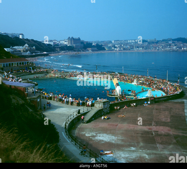 Bathing pool south bay scarborough stock photos bathing - Swimming pools in south yorkshire ...