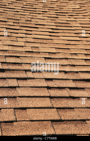 Vertical Detail Of Brown Roof Shingles   Stock Image