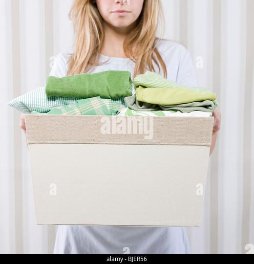 folded clothes basket stock photos amp folded clothes basket