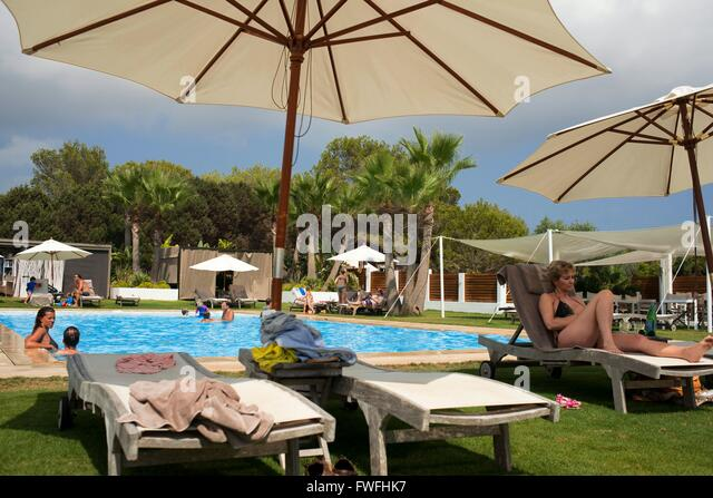 Migjorn stock photos migjorn stock images alamy - Hotel gecko beach club formentera ...